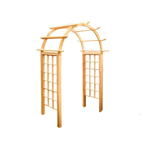 Creekvine Designs - Cedar Arched Arbor - 42 Inch - Lawn and Garden  - Yard Outlet