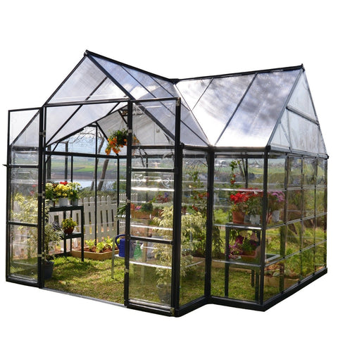 Palram - Chalet 14 Foot x 12 Foot Greenhouse - Default Title - Lawn and Garden  - Yard Outlet