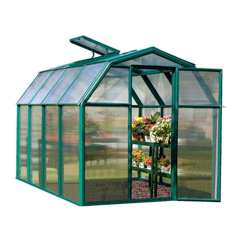 Rion - HG7006 - EcoGrow 2,  6' x 6' Twin Wall Greenhouse - Green - Poly-Tex