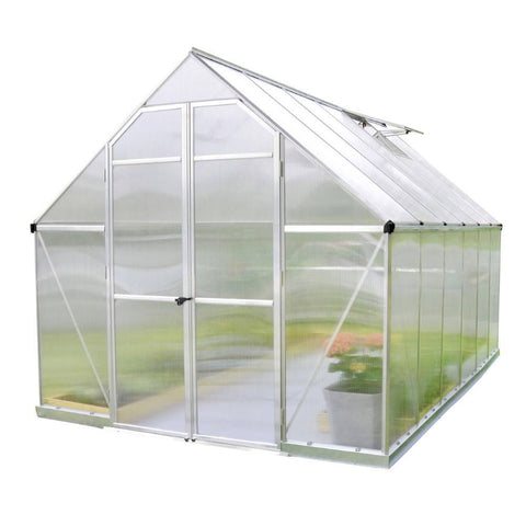 Palram - HG5812 - Essence 8' x 12' Hobby Greenhouse Kit - Silver - Poly-Tex