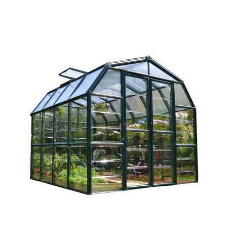 Rion - Grand Gardener 2, 8 Foot x 8 Foot Greenhouse - Poly-Tex