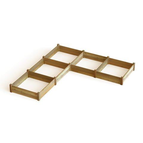 "Gronomics - Gronomics - ""L"" Shaped Modular Raised Garden Bed 142 x 142 x 13 -  - Lawn and Garden  - Yard Outlet - 1"