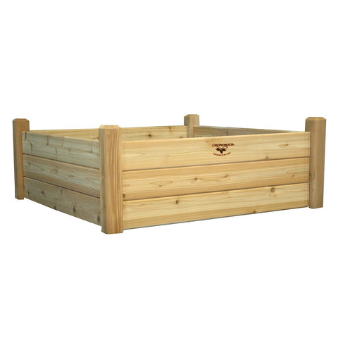 Gronomics - Gronomics - Raised Garden Bed 48 x 48 x 19 - Unfinished - Lawn and Garden  - Yard Outlet - 1