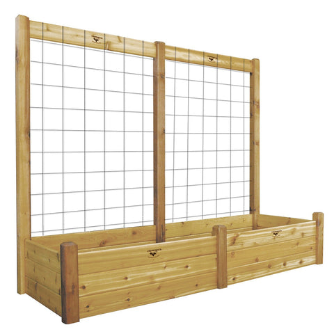 Gronomics - Gronomics - Three Tier 34 x 95 x 80 Raised Garden Bed with Trellis Kit - Unfinished - Lawn and Garden  - Yard Outlet - 1