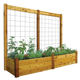 Gronomics - Gronomics - Three Tier 34 x 95 x 80 Raised Garden Bed with Trellis Kit -  - Lawn and Garden  - Yard Outlet - 4