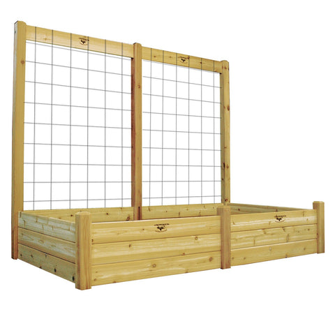 Gronomics - Gronomics - Three Tier 48 x 95 x 80 Raised Garden Bed with Trellis Kit - Unfinished - Lawn and Garden  - Yard Outlet - 1