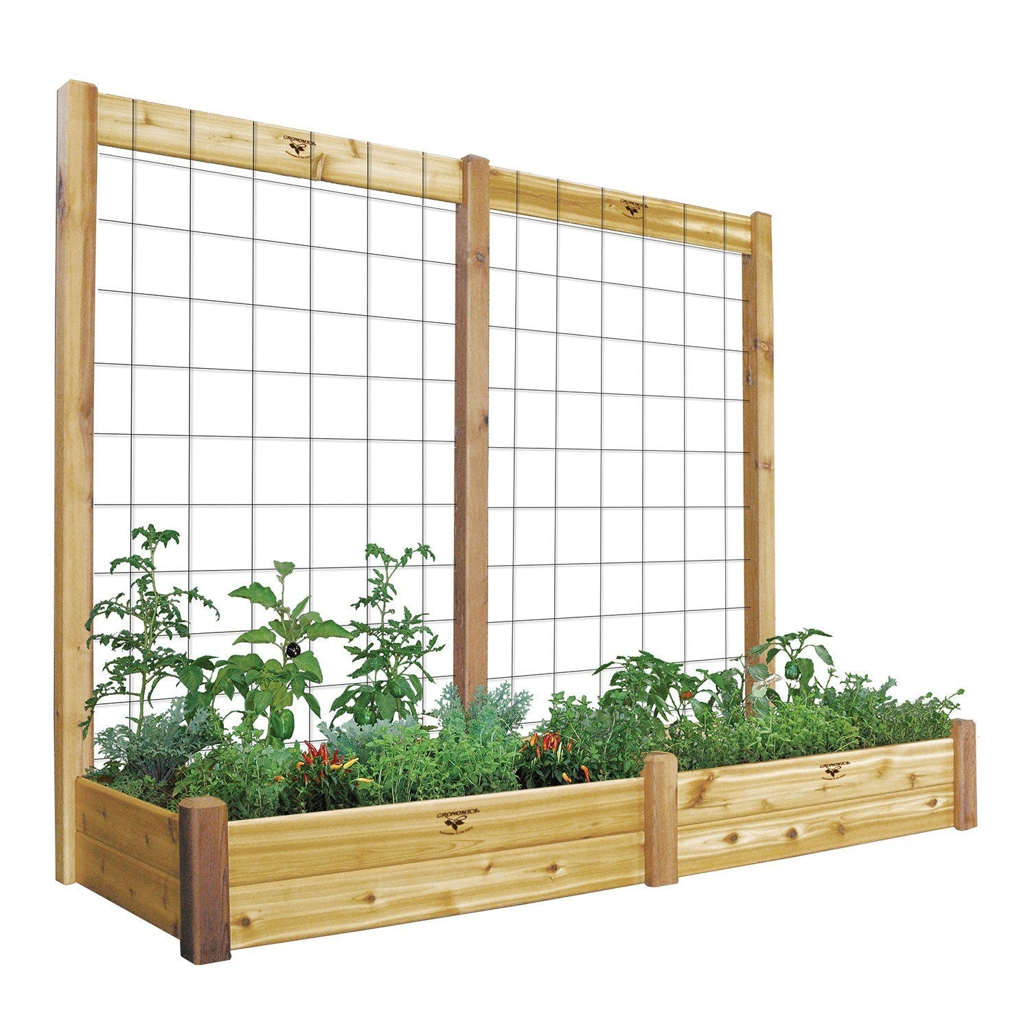Head Planter Pots For Sale Gronomics Two Tier 34 X 95 X 80 Raised Garden Bed With