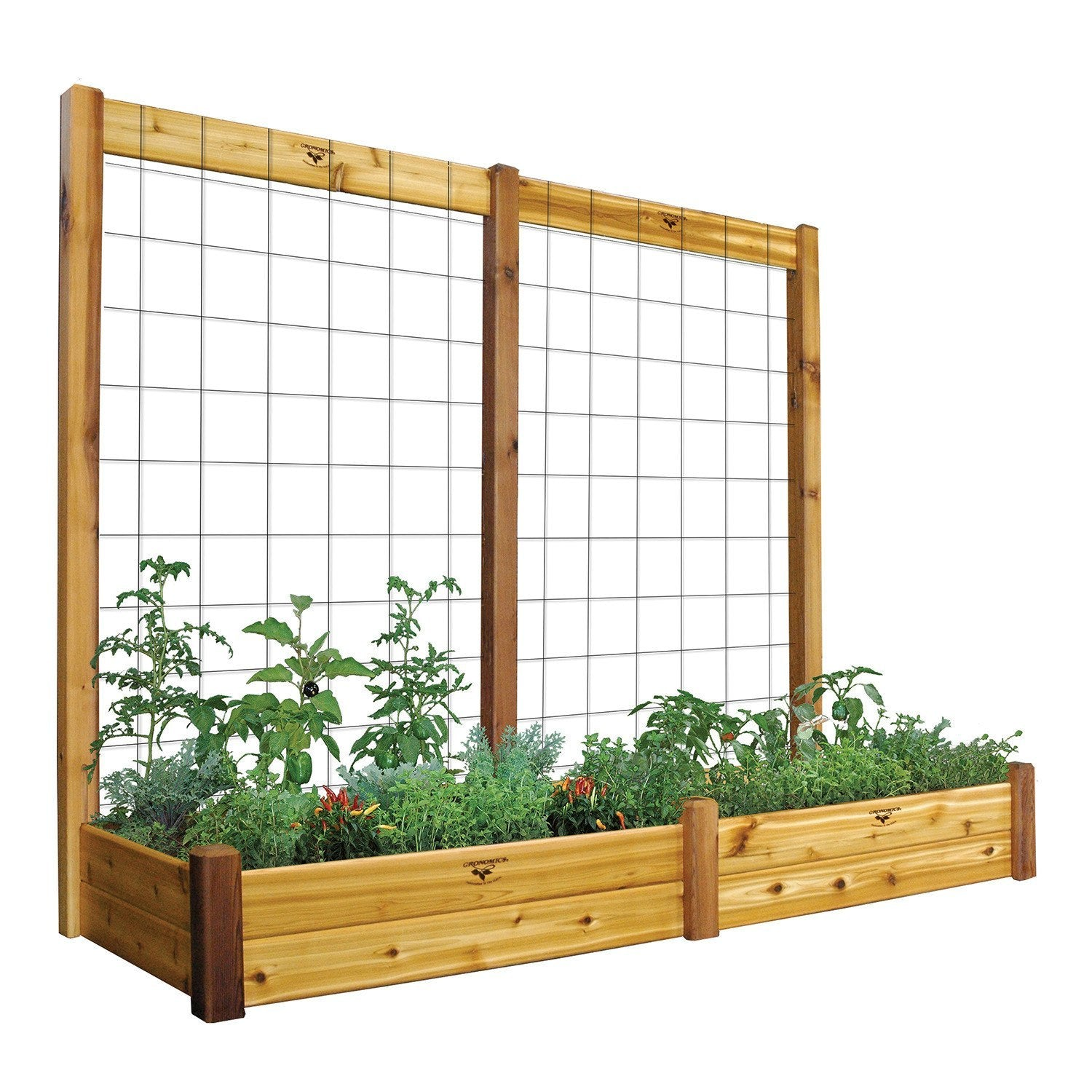 Rectangle Raised Flower Box Planter Bed 2 Tier Soil Pots: Two Tier 34 X 95 X 80 Raised Garden Bed With