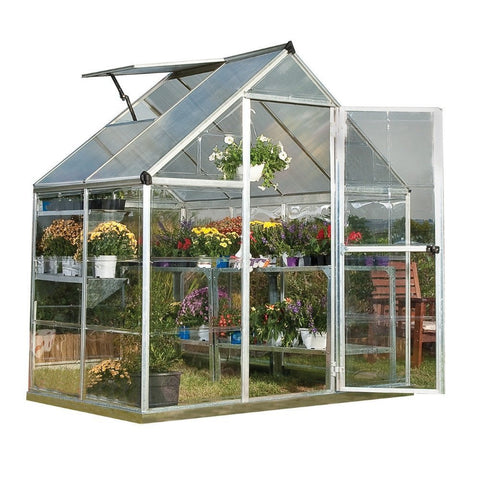 Palram - Hybrid Greenhouse Series - Silver - Lawn and Garden  - Yard Outlet - 1