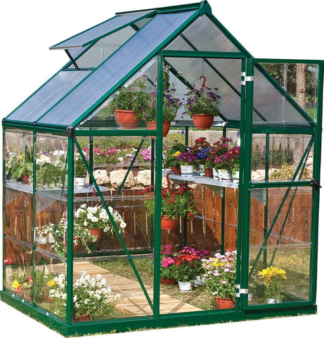 Palram - Hybrid Greenhouse Series - Green - Lawn and Garden  - Yard Outlet - 2