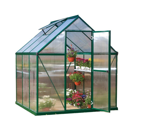 Palram - Mythos 6 Foot x 6 Foot Hobby Greenhouse - Green - Lawn and Garden  - Yard Outlet - 2