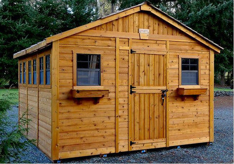 Outdoor Living Today - 12 x 12 Sunshed Garden Shed with Dutch Door - Outdoor Living Today