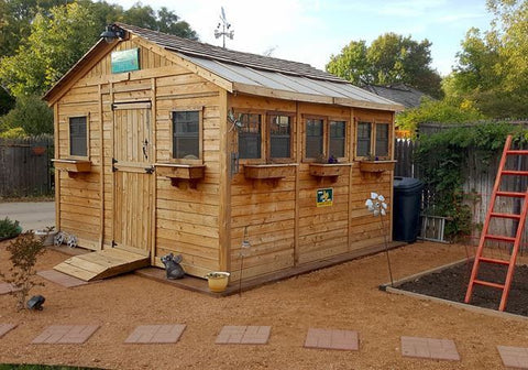 Superb ... Outdoor Living Today   12 X 12 Sunshed Garden Shed With Dutch Door ...