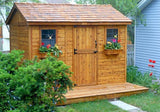 Outdoor Living Today - CB128 - 12 x 8 Cabana Shed with Dutch Door - Outdoor Living Today