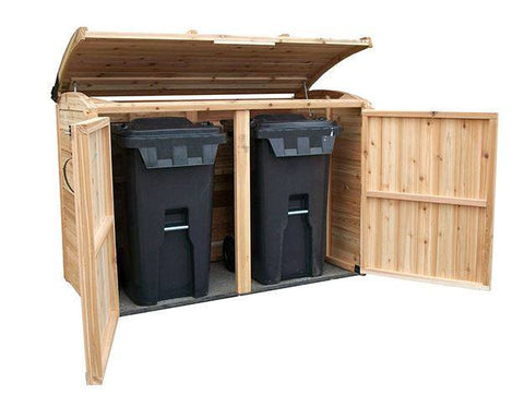 Outdoor Living Today - 6 x 3 Oscar -Waste Management Shed Includes Floor