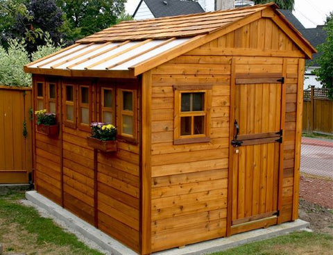 ... Outdoor Living Today   8 X 12 Sunshed Garden Shed With Dutch Door ...