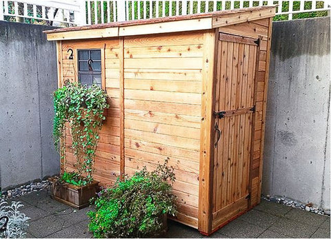 outdoor living today ss84 8 x 4 spacesaver lean to style shed