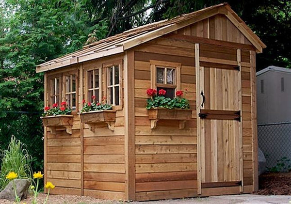 Outdoor Living Today Ssgs88 8 X 8 Sunshed Garden Shed
