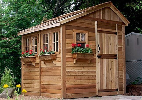 Outdoor Living Today - 8 x 8 Sunshed Garden Shed with Dutch Door - Outdoor Living Today