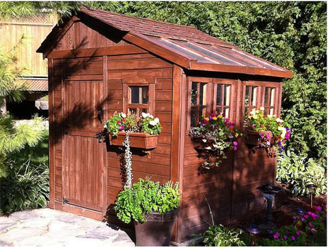 ... Outdoor Living Today   8 X 8 Sunshed Garden Shed With Dutch Door ...