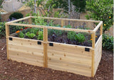 Outdoor Living Today - RB63 6 x 3 Raised Cedar Garden Bed - Outdoor Living Today