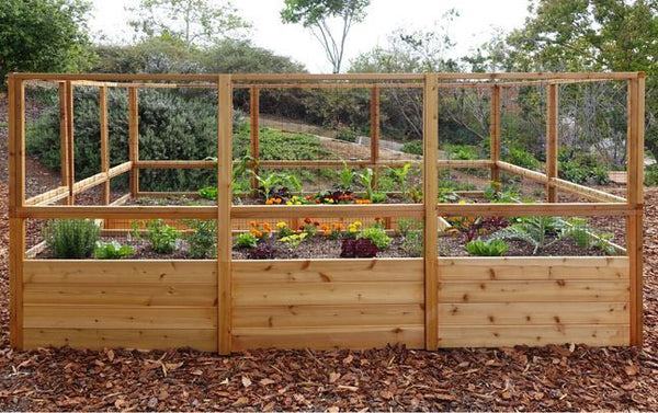 Raised Garden Bed 8 X 12 With Deer Fence Kit Yard Outlet