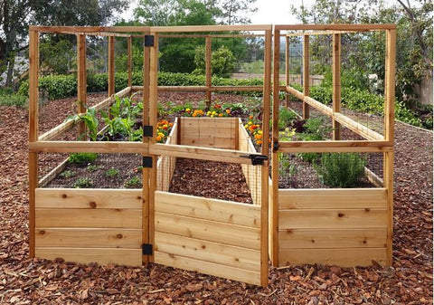 ... Outdoor Living Today   RB812DFO Raised Garden Bed 8 X 12 With Deer Fence  Kit ...