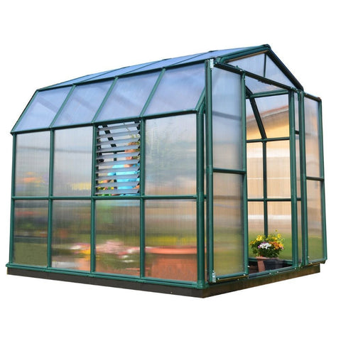 Poly-Tex - HG7312 - Prestige 2, 8' x 12' Greenhouse - Green - Poly-Tex
