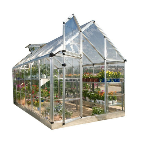 Palram - Snap and Grow Silver Hobby Greenhouse - 6 x 8 - Lawn and Garden  - Yard Outlet