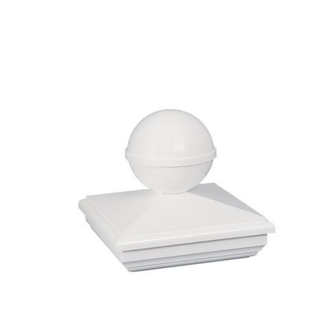 Classy Caps - Classy Caps - 4 x 4 New England Ball PVC Post Cap - 5 x 5 - Lawn & Garden  - Yard Outlet - 1