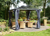 Palram - HG1055 - Palermo Gazebo Curtains - 4 Piece - Poly-Tex