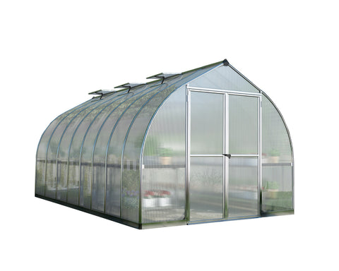 Palram - HG5416 - Bella 8' x 16' Hobby Greenhouse - Silver - Poly-Tex