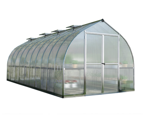 Palram - HG5420 - Bella 8' x 20' Hobby Greenhouse - Silver - Poly-Tex
