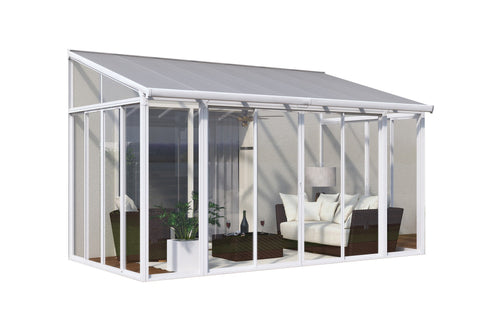 Palram - HG9060 - SanRemo 10' x 14' Patio Enclosure - White - Poly-Tex