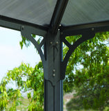 Palram - HG9170 - Martinique 10' x 14' Rectangle Garden Gazebo - Grey/Bronze - Poly-Tex