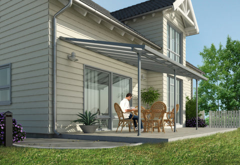 Palram Hg9420 Feria Patio Cover 10 X 20 Gray Yard Outlet
