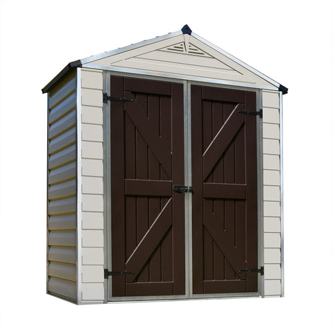 Palram - HG9603T - SkyLight 6' x 3' Storage Shed - Tan - Poly-Tex