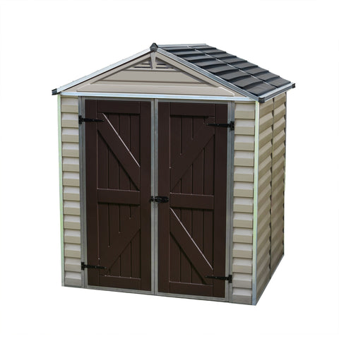 Palram - HG9605T - SkyLight 6' x 5' Storage Shed - Tan - Poly-Tex