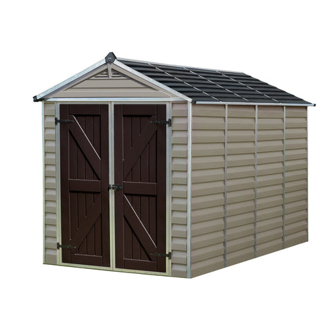 Palram - HG9610T - SkyLight 6' x 10' Storage Shed - Tan - Poly-Tex