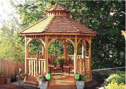 Outdoor Living Today - BAYSIDE10 - 10 ft Bayside Octagon Gazebo- Panelized (Includes 2 Tier Cupola) - Outdoor Living Today