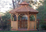 10 ft Bayside Octagon Gazebo- Panelized (Includes 2 Tier Cupola)