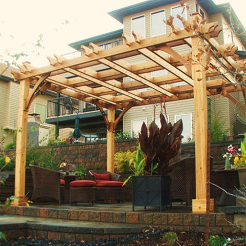 Outdoor Living Today - BZ1212 - 12 x 12 Cedar Breeze Pergola - Outdoor Living Today
