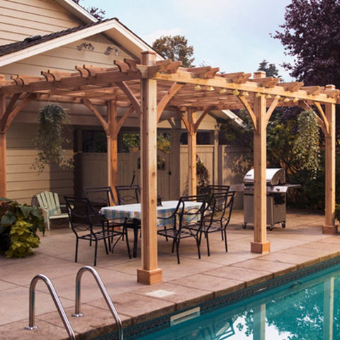 Outdoor Living Today - 12 x 20 6 Post Breeze Pergola - Default Title - Outdoor Living  - Yard Outlet