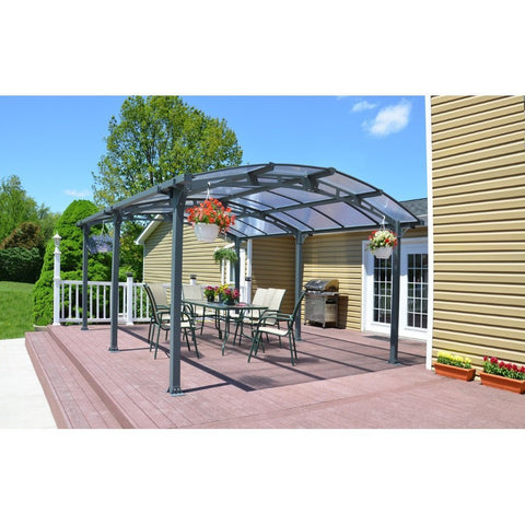 Palram - Arcadia 5000 Carport Kit - Default Title - Outdoor Living  - Yard Outlet