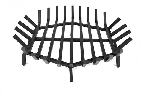 Aspen Industries - Round Fire Pit Grate, Large 36 and 38 Inches in Carbon Steel or Stainless Steel Option - Aspen Industries, INC