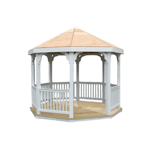 Creekvine Designs - Creekvine Designs, 10 Foot Vinyl Gazebo - Default Title - Outdoor Living  - Yard Outlet - 1