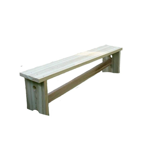 Creekvine Designs - Creekvine Designs, 5 Foot Cedar 1800 Traditional Bench w/ Slant Brace - Default Title - Outdoor Living  - Yard Outlet - 1