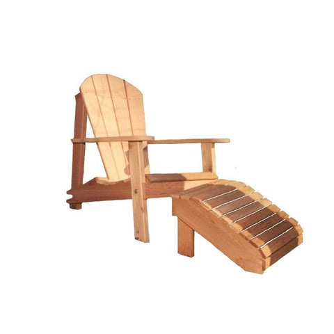 Creekvine Designs - Creekvine Designs, Cedar Adirondack Chair & Footrest Set - Default Title - Outdoor Living  - Yard Outlet