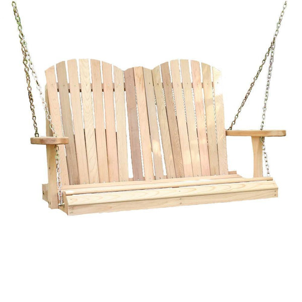 creekvine designs cedar adirondack chair style porch swing yard