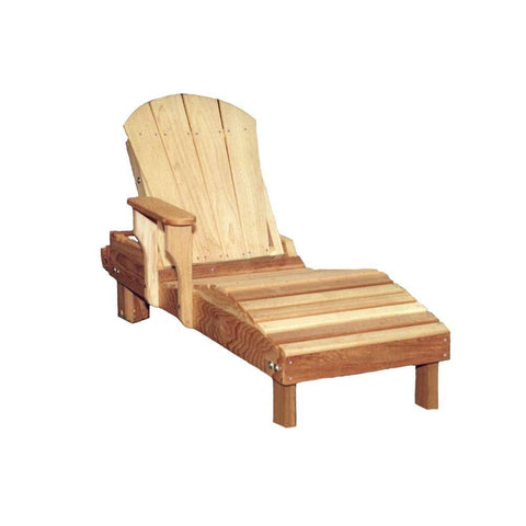 creekvine designs cedar adirondack chaise lounge yard outlet. Black Bedroom Furniture Sets. Home Design Ideas